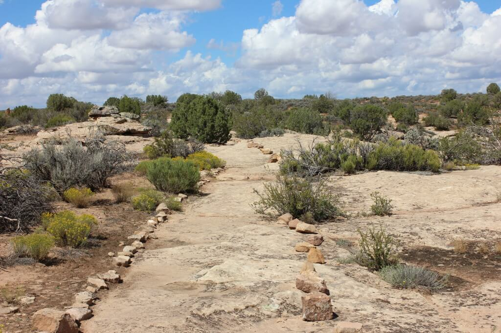 stone path at Hovenweep
